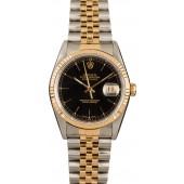 Knockoff Rolex Datejust 16233 Black 100% Authentic JW1880