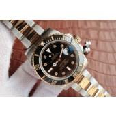 Replica Rolex Submariner 116613 Black Dial Diamonds Markers Bracelet WJ00541