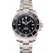 Rolex Bamford Submariner Black Dial With Roman Numerals Black Bezel Stainless Steel Case And Bracelet