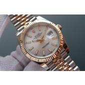Rolex Date Just II 41mm Silver Dial Stick Marker Bracelet WJ01175