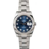 Rolex Datejust Steel 116234 Diamond Dial JW1969
