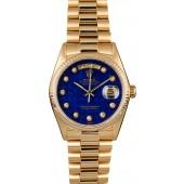 Rolex Presidential 18038 Blue Lapis Pyramid Diamond Dial JW2336