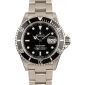 Rolex Submariner 16610 Men's Black Dial Watch JW2426