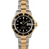 Rolex Submariner 16613 Two Tone Oyster Men's Watch JW2455