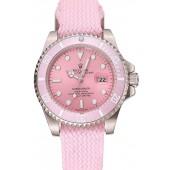 Rolex Submariner Pink Dial Pink Bezel Pink Fabric Bracelet 1453866